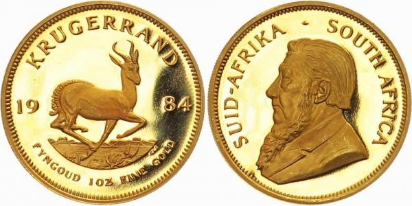 SÜDAFRIKA 1 Krügerrand 1984 PP - 1 Oz Gold
