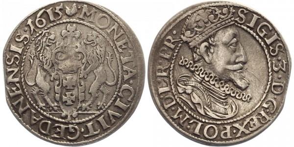 Danzig 1/4 Thaler 1615 - Sigismund III.