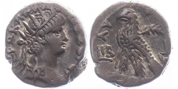 Alexandria/Ägypten Tetradrachme Jahr 12 - Nero, 54-68