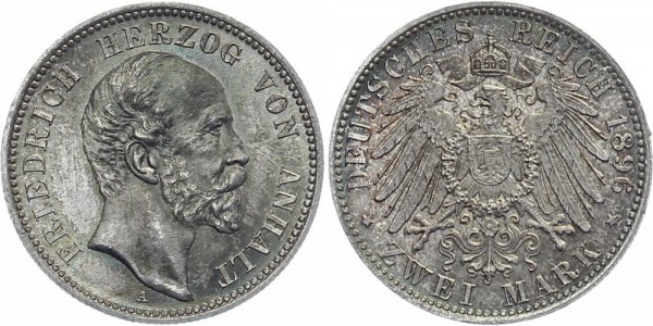 ANHALT 2 Mark 1896 A Friedrich I.