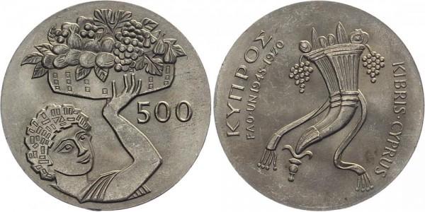 Zypern 500 Mils 1970 - Erntedankfest