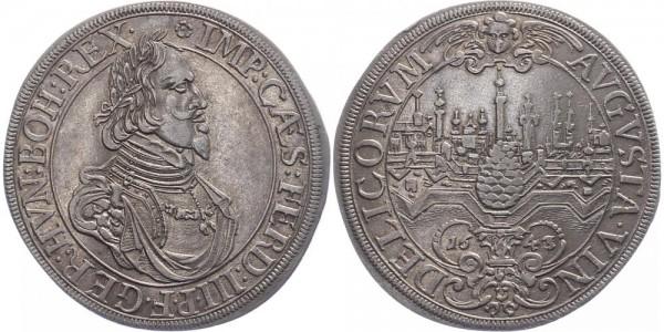 Augsburg 1 Taler 1643 - Ferdinand III.