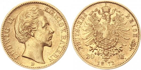 Bayern 20 Mark 1873 D Ludwig II.