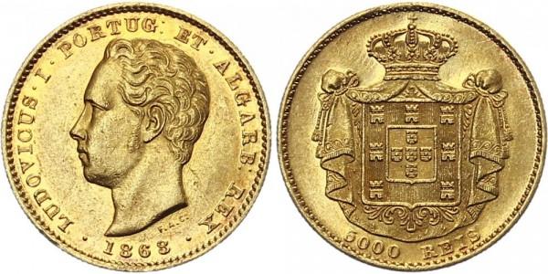 Portugal 5000 Reis 1868 - Luiz I.