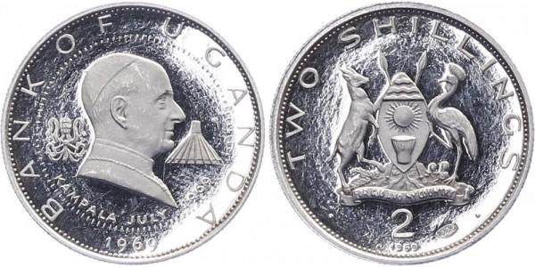 Uganda 2 Shilling 1969 - Besuch des Papstes Paul VI.