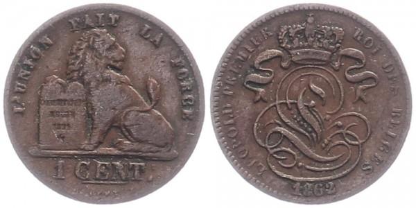 Belgien 1 Cent 1862 - Leopold I.