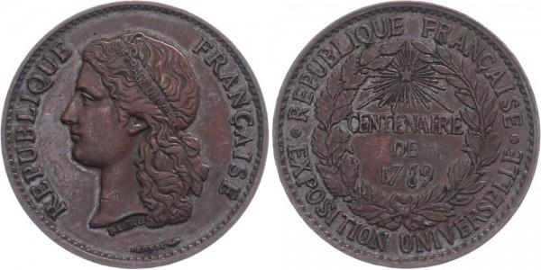 Frankreich Medallie - Centenaire de 1789