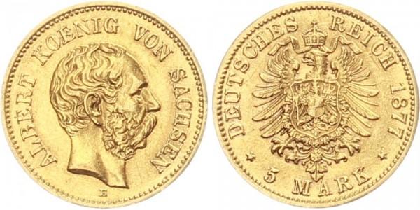 Sachsen 5 Mark 1877 - König Albert