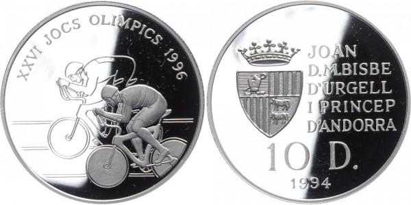 Andorra 10 Diners 1994 - Olympia Radrennen