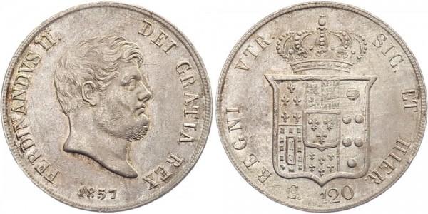 Sizilien 120 Grana 1857 - Ferdinand II.