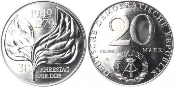 DDR 20 Mark 1979 A Probe 30 Jahre DDR