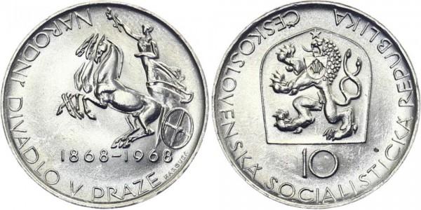 CSSR 10 Kč 1968 - Nationaltheater Prag