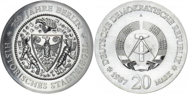 DDR 20 Mark 1987 A 750 Jahre Berlin