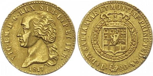 Italien/Sardinien 20 Lire 1817 - Vittorio Emanuele I