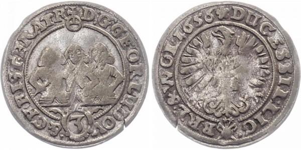 Schlesien-Liegnitz-Brieg 3 Kreuzer 1656 - Georg III., Ludwig IV. und Christian