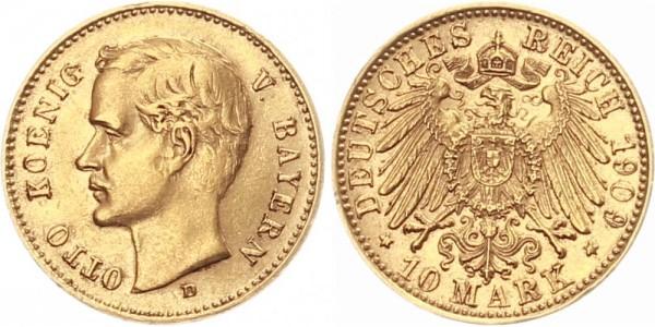 Bayern 10 Mark 1909 D König Otto