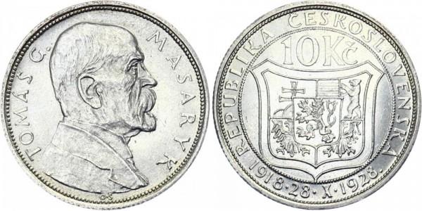 Tschechei 10 Kč 1928 - Masaryk