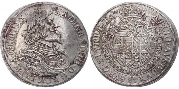 Haus Habsburg 1 Taler 1648 Graz Ferdinand III.
