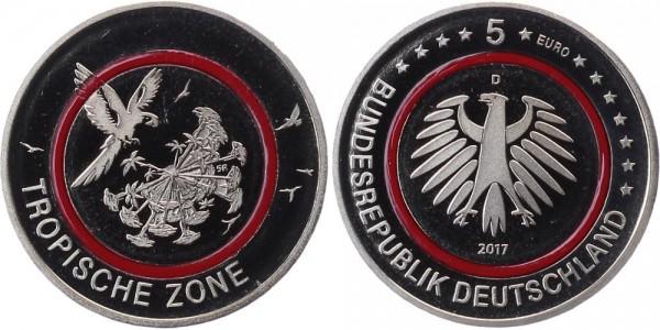 Deutschland 5 Euro 2017 PP München Tropische Zone