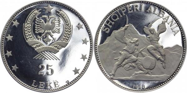 ALBANIEN 25 Leke 1968 - Schwärtertanz