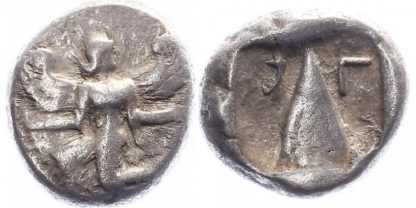 Kaunos, Karien Silberstater 485-425 v. Chr. Götterbotin Iris