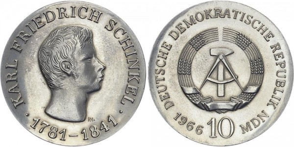 DDR 10 Mark 1966 A Schinkel