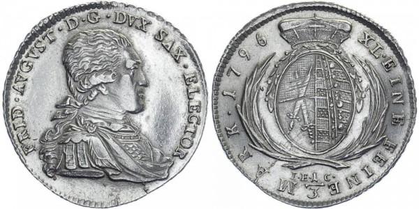 SACHSEN 1/3 Taler 1796 - Kursmünze
