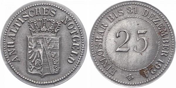 Anhalt 25 Pfennig 1924 - Notgeld