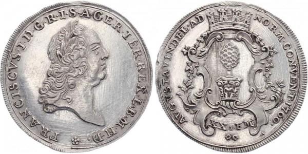Augsburg ½ Taler 1760 - Franz I.