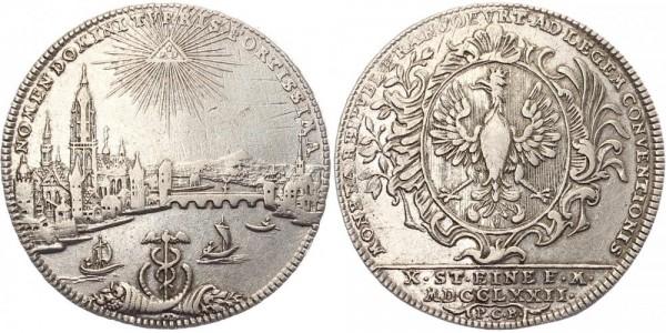 Frankfurt 1 Thaler 1772 - Stadtbild