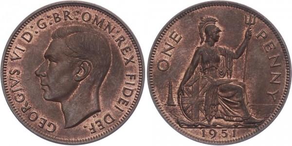 Großbritannien 1 Penny 1951 - Georg VI.