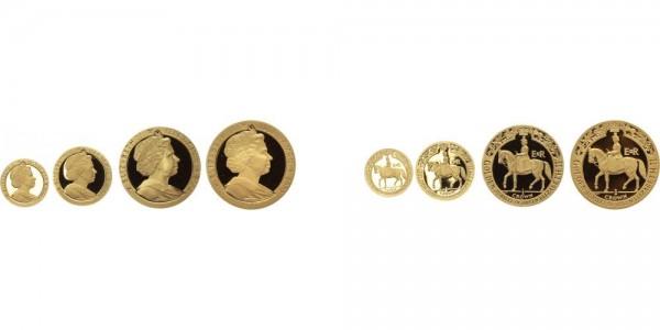 Isle of Man 4x Gold Kronen 2002 - Goldenes Jubiläum