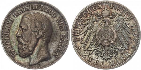 Baden 2 Mark 1896 - Friedrich I.