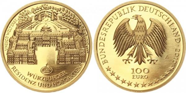 "Deutschland 100 Euro 2010 - Würzburger Residenz ""A"""