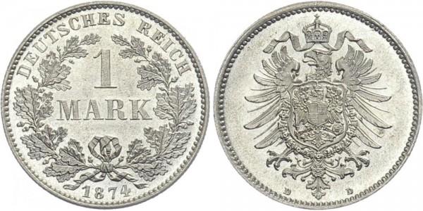 Kaiserreich 1 Mark 1874 D Kursmünze