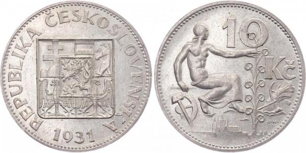 10 Kronen 1931/32 - Kursmünze