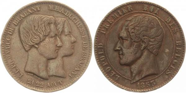 Belgien 10 centimès 1853 - Leopold I.