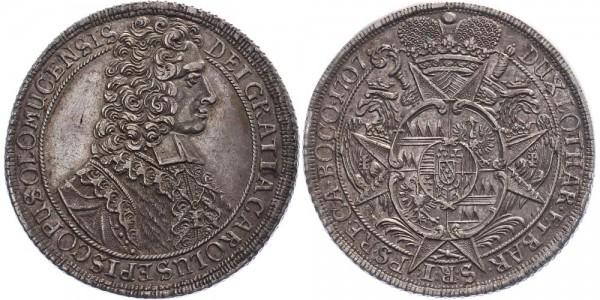 Olmütz 1 Taler 1707 - Karl III. von Lothringen 1695-1711