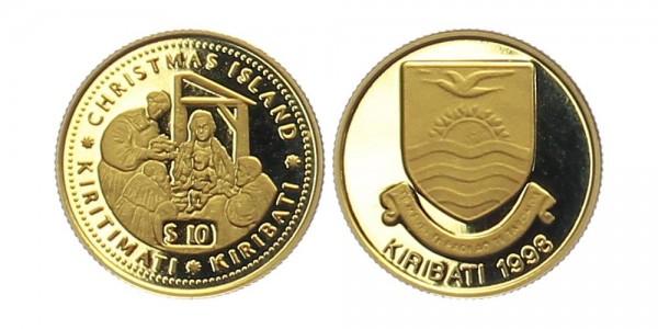 Kiribati 10 Dollar 1998 - Weihnachtsinseln