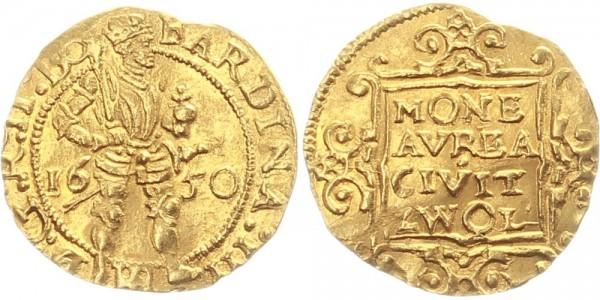 Niederlande 1 Dukat 1650 Zwolle Ferdinand III.