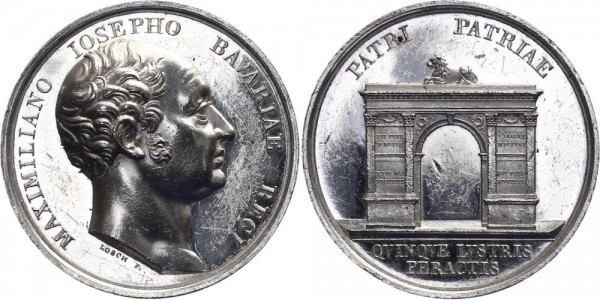 Bayern Medaille 1824 - Regierungsjubiläum Maximilian I.