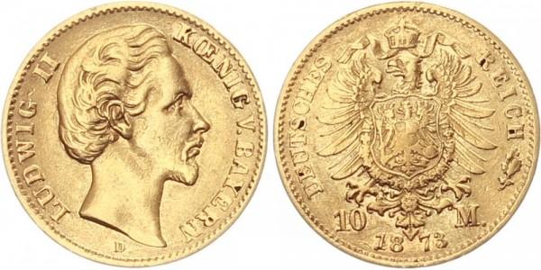 Bayern 10 Mark 1873 D Ludwig II.