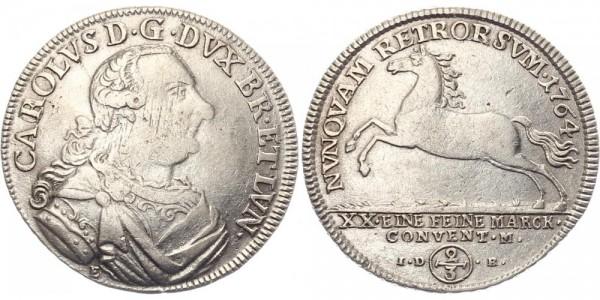Braunschweig 2/3 Taler 1764 - Karl I.