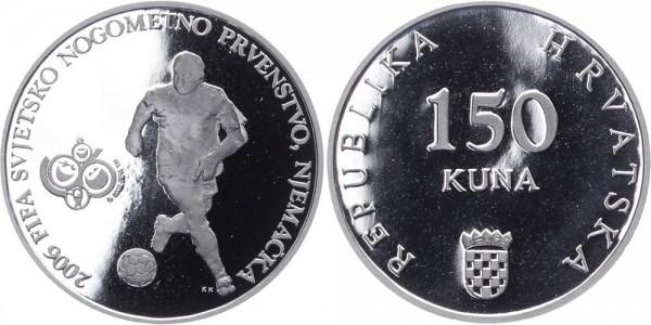 Kroatien 150 Kuna 2006 - Fußball WM Deutschland 2007
