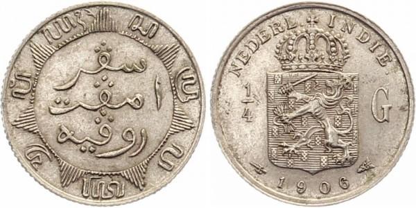 Niederl.-Indien 1/4 Gulden 1906