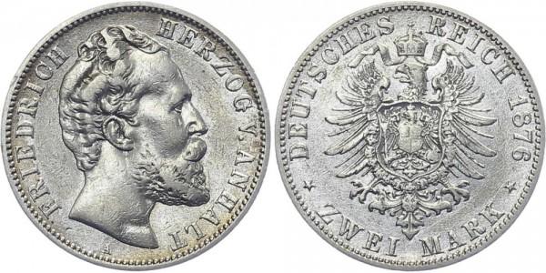 ANHALT 2 Mark 1876 A Friedrich I.