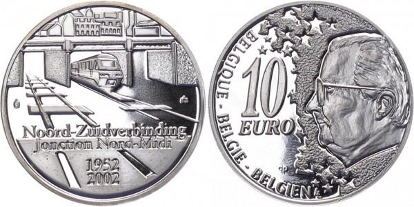 Belgien 10 Euro 2002 - 50 Jahre Nord-Südverbindung