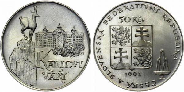 Csfr 50 Kč 1991 Karlovy Vary Karlsbad