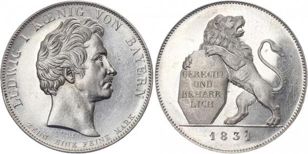Bayern Geschichtstaler 1831 - Gerecht und beharrlich