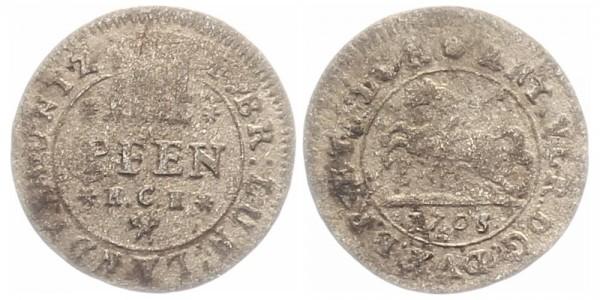 Braunschweig 4 Pfennig 1705 - Kursmünze